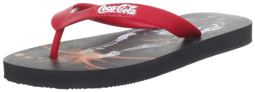 Coca Cola Unisex - Adult Pop Flip-Flops Red Rot (Red) Size: 35/36