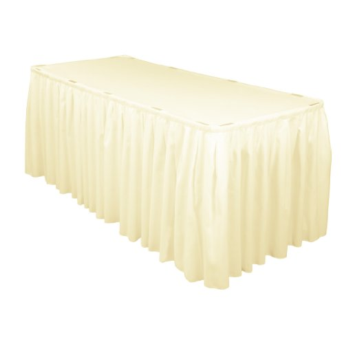 14 Foot Satin Table Skirt Ivory