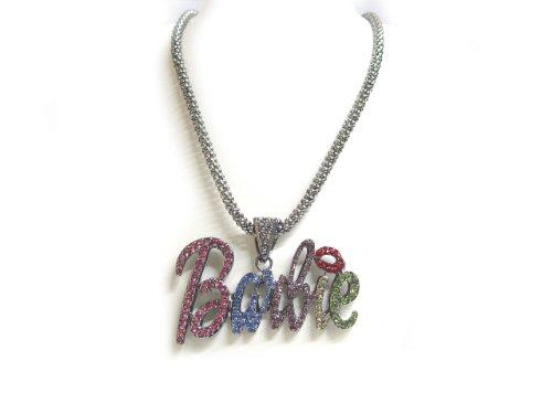 Nicki Minaj Barbie Necklace Large grey with multi color