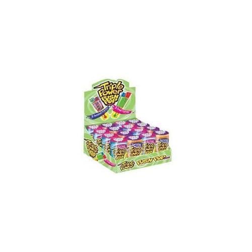 Amazon.com : Topps Triple Power Push Pop Candy - 16 / Box