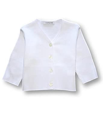 Cacharel White Ribbed Cardigan, Knitwear, Baby girl, 3-6 months