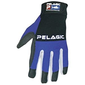 Pelagic End Game Gloves - Closed Fingertips - Navy Blue - S/M