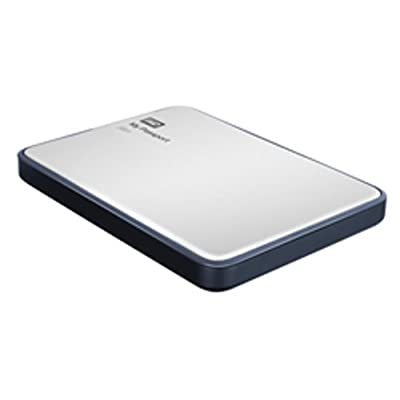 WD My Passport Slim 1TB Portable External Hard Drive (Metal Silver)