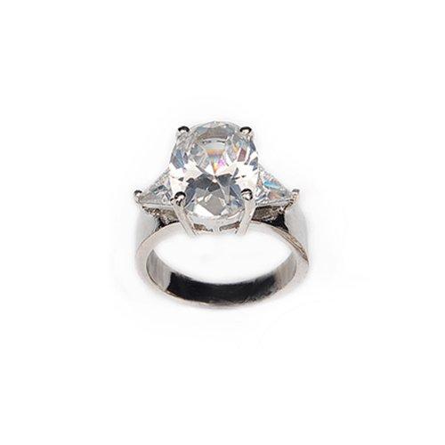 Trendy Cubic Zirconia Ring Size:8 #022073