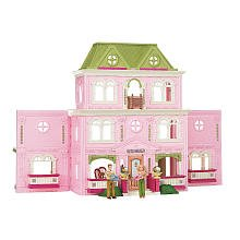 FISHER PRICE LOVING FAMILY DOLLHOUSE w/BONUS FAMILY ROOM