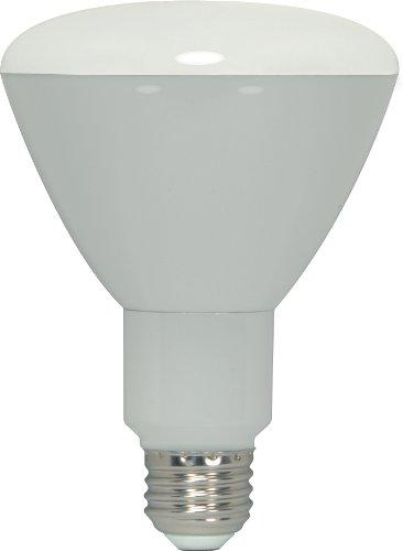 Satco S9044 11 Watt (65 Watt) 800 Lumens Br30 Led Cool White 4000K 108 Beam Ditto Light Bulb, Dimmable