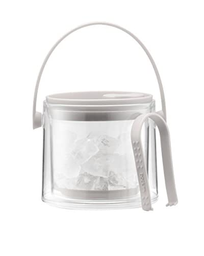 Bodum Cool White 51-Oz. Ice Bucket with Tongs