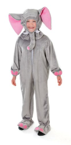 Grey Elephant Plush Children's Fancy Dress Costume - 128cm (Age 7-9 Approx)