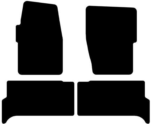 Land Rover Discovery Series Ii Simplex Carpeted Custom-Fit Floor Mats - 4 Pc Set - Beige (1999 2000 2001 2002 2003 2004 99 00 01 02 03 04)