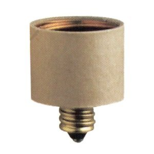 E12 Candelabra To E26 Medium Base Light Bulb Adapter Conversion Socket