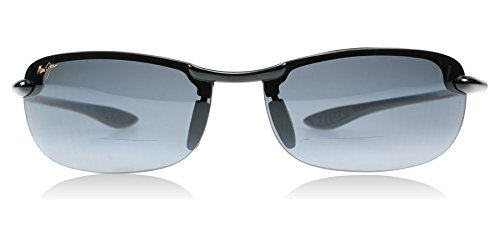 Maui-Jim-G805-02-Gloss-Black-Makaha-Reader-Wrap-Sunglasses-Polarised-Golf-Sail-by-Maui-Jim