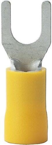 Gardner Bender 10-116 Terminal Spade, 12-10 AWG, Stud Sz 8-10, Yellow (50 pk)