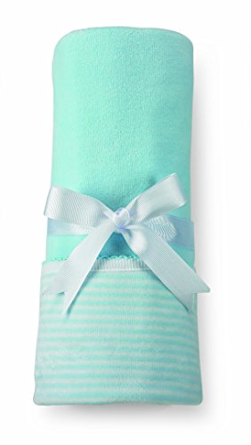 Mud Pie Velour Blanket, Blue