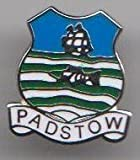 Padstow - Cornwall Cornish Town Flag / Crest Pin Badge