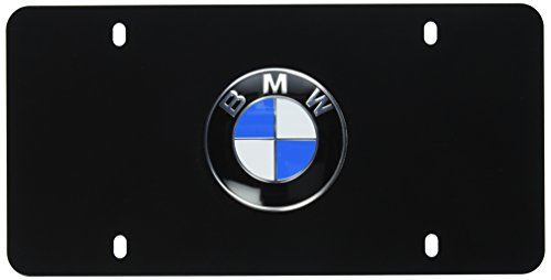BMW License Marque Plate with BMW Logo Black (Bmw License Plate Frame 3 Series compare prices)
