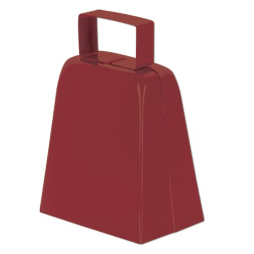 Cowbells (maroon) Party Accessory  (1 count)