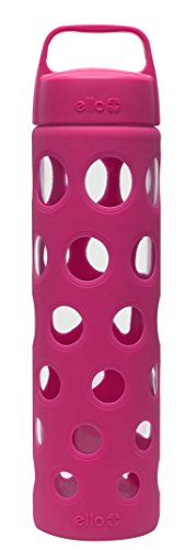 Ello Pure BPA-Free Glass Water Bottle with Lid, Pink Fizz, 20 oz. Review