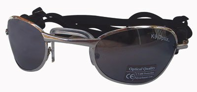 Dog Sunglasses With Metal Frames and Smoke Lenses - Silver, Large