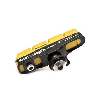 SwissStop FlashPro Yellow King Shimano/Sram Caliper Road Bicycle Brake Pads w/Carrier - pair/Carbon Rim - P100001882