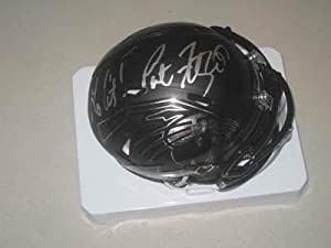 Pat Fitzgerald Northwestern Wildcats Football Signed Black Retro Mini Helmet -... by Sports+Memorabilia