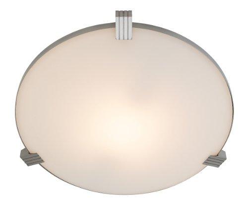 Access Lighting 50070-BS/WHT Luna Flush Mount Ceiling Light by Access Lighting