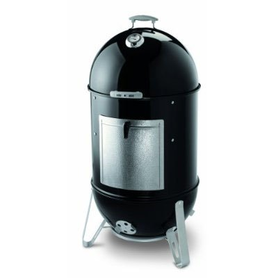 "Weber Smokey Mountain Cooker 721001 18.5"" Charcoal Smoker with 481 sq. in. Cooking Area, Porcelain-Enameled Bowl, Lid, and Water Pan, Two Plated Steel Cooking Grates, Lid Thermometer and No-Rust Aluminum Fuel Door"