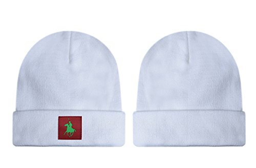 POLO Beanies Unisex Comfort Hip Hop Hat White One Size