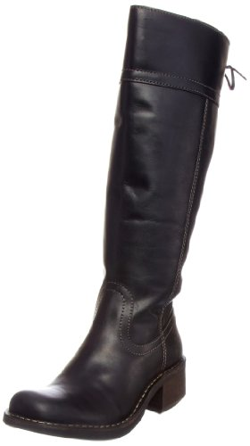 Fly London Women's Flip Black Biker Boots P210602004 6 UK