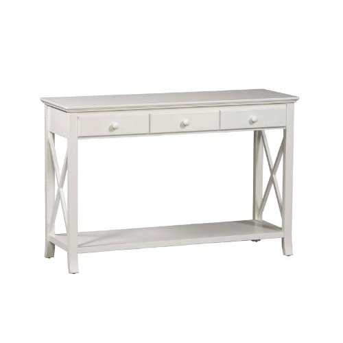 Amazon.com - Console Sofa Table - Warwick Collection White Finish