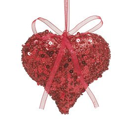 heart tree ornaments - Valentines Day Heart Ornaments (Red)