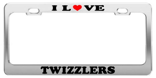 I LOVE TWIZZLERS License Plate Frame Car Truck