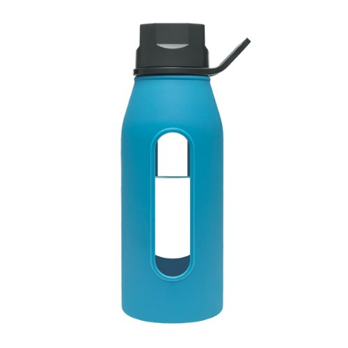 Oz Glass Water Bottle With Silicone Sleeve
