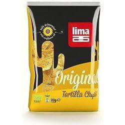 LIMA - Tortilla chips original bio - Sachet de 90 g- (pour la quantité plus que 1 nous vous remboursons le port supplémentaire)