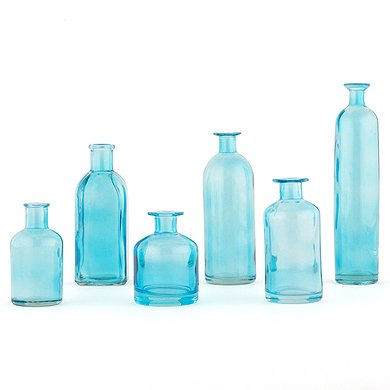 Decorating Glass Bottle Set Oasis Blue