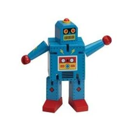 Robot X-7 Bendable Hardwood Robot - Blue by Original Toy Company