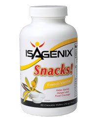 Isagenix Snacks Natural Vanilla 60 Snacks