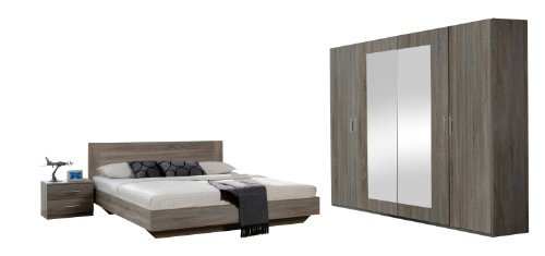 Wimex-749323-Schlafzimmer-Set-bestehend-aus-Bett-180-x-200-cm-Nachtschrankpaar-je-zwei-Schubksten-und-Kleiderschrank-4-trig-225-x-210-x-58-cm