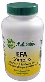 1000 mg EFA Complex (180 Softgels) Flax Seed & Sunflower Oils Ideal 3:1 Ratio of Omega-6 to Omega-3 Essential Fatty Acids