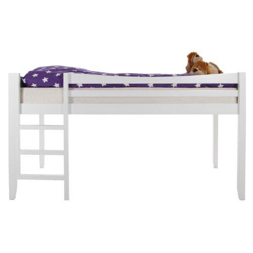 AC Design Furniture 90 x 200 cm blanco entrepiso de madera con escalera Blanche