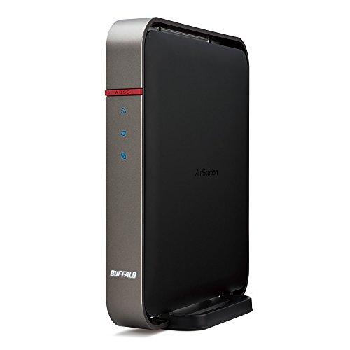 BUFFALO【iphone6 対応】11ac/n/a/b/g 無線LAN親機(Wi-Fiルーター)エアステーション AOSS2 ハイパワー Giga 1300+450Mbps WZR-1750DHP2/N (利用推奨環境6人・4LDK・3階建)