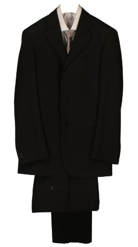Kenzo Single Breasted 3 Button Suit - Black