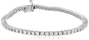 14k White Gold 4-Prong Diamond Tennis Bracelet (3 cttw, H-I Color, I1-I2 Clarity), 8''