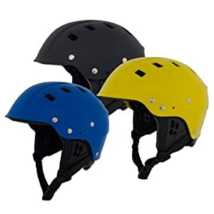 NRS Chaos Side-Cut Kayak Helmet-Yellow-XL