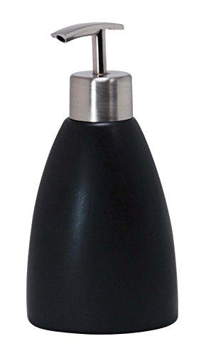 Kiera Grace Cleo Ceramic Lotion Dispenser, Matte Charcoal