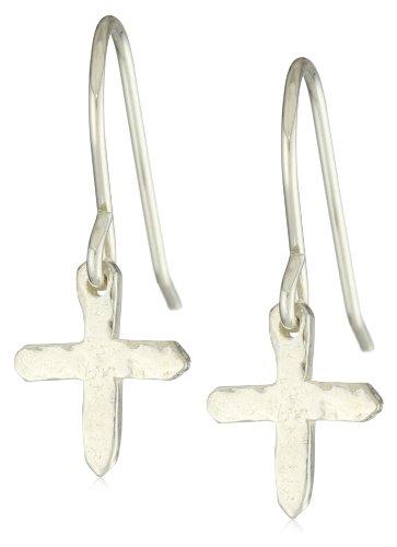 gorjana Silver Cross Over Small Earrings