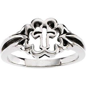 Genuine IceCarats Designer Jewelry Gift Sterling Silver Cross Ring. Cross Ring In Sterling Silver Size 7