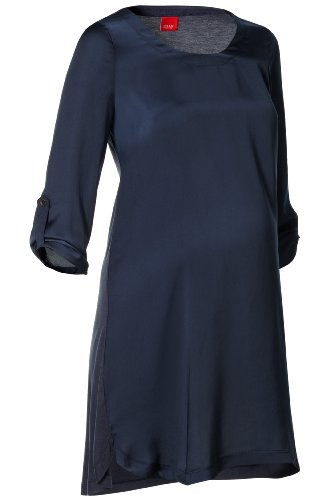 Esprit Maternity  Women's H84735 Tunic Maternity Blouse Blue (Dark Navy 402) 40