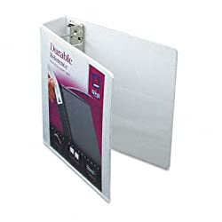 Funny product Avery Durable View Binder with 2 Inch EZ-Turn Ring, White, 1 Binder (17032)