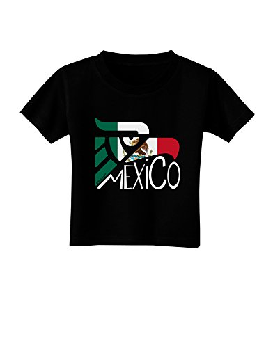 TooLoud Mexico Eagle Symbol - Mexican Flag - Mexico Toddler T-Shirt Dark