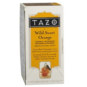 TAZO Wild Sweet Orange Tea, Caffeine Free, 20-Count Tea Bags (Pack of 3)